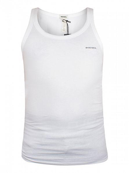 Diesel White Bale Plain Logo Vest