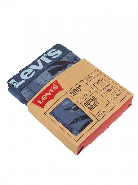 Levi's Ensign Blue 2 Pack 200SF Floral Cotton Stretch Boxer Briefs
