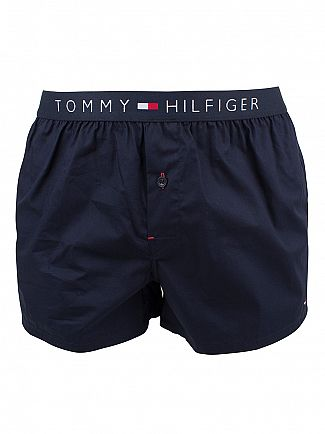 Tommy Hilfiger Navy Blazer Icon Cotton Woven Boxer