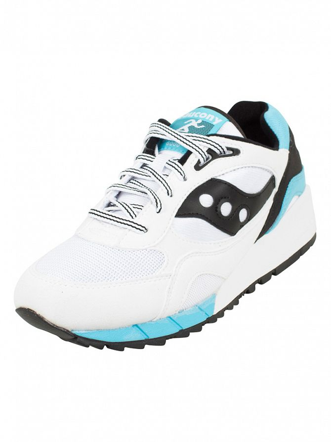 Saucony White/Black Shadow 6000 Trainers