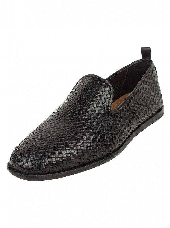 H by Hudson Black Ipanema Weave Shoes