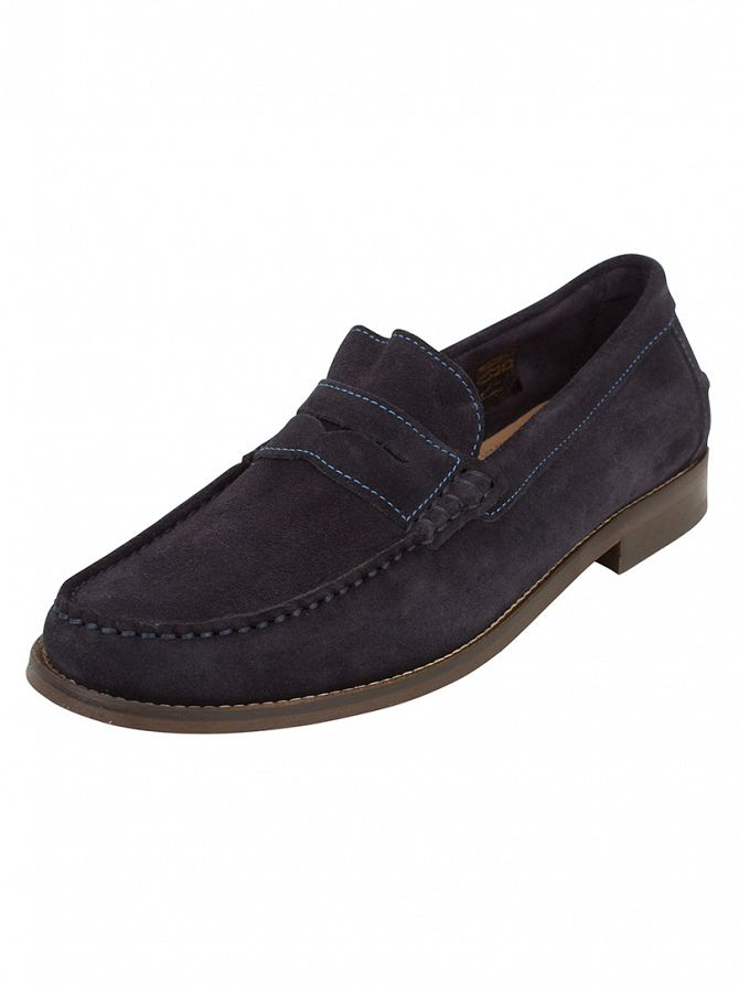 H by Hudson Navy Augusta Suede Shoes