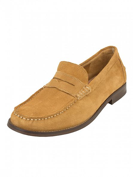 H by Hudson Camel Augusta Suede Shoes