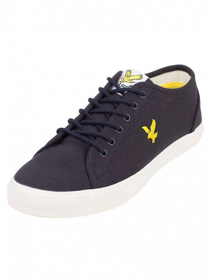 Lyle & Scott New Navy Teviot Twill Trainers