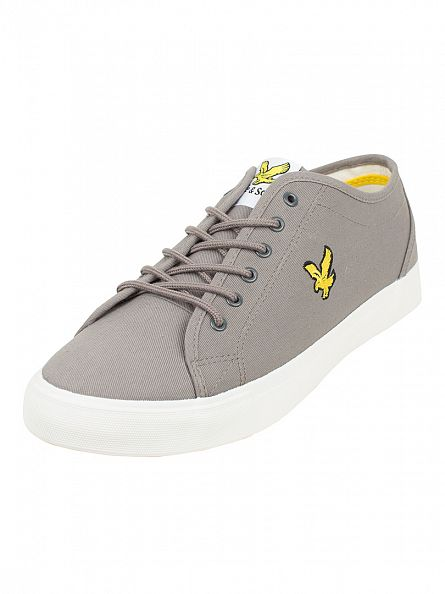 Lyle & Scott Solid Grey Teviot Twill Trainers