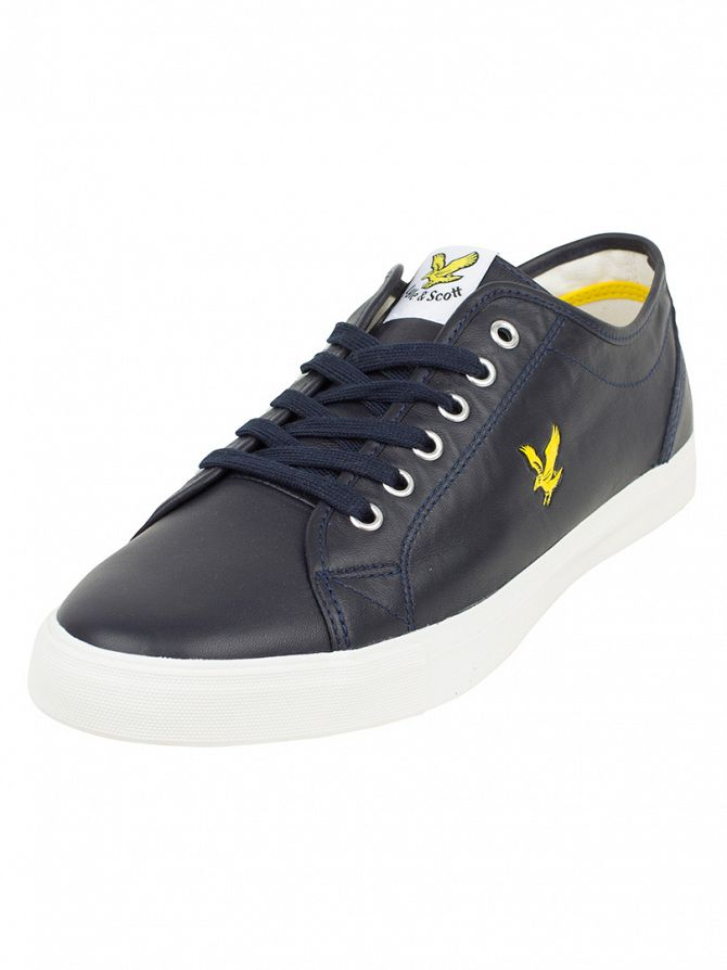 Lyle & Scott New Navy Teviot Leather Trainers