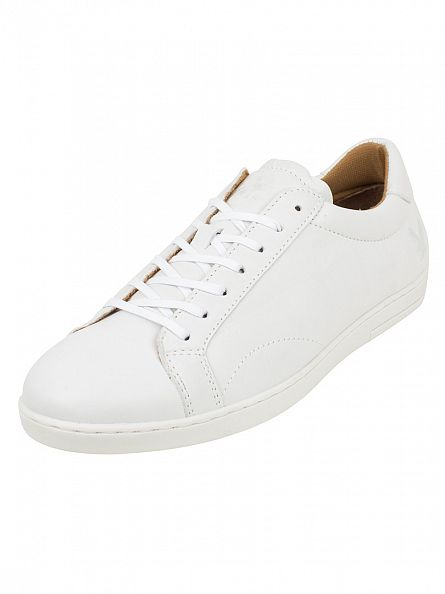Lyle & Scott White Findon Leather Trainers