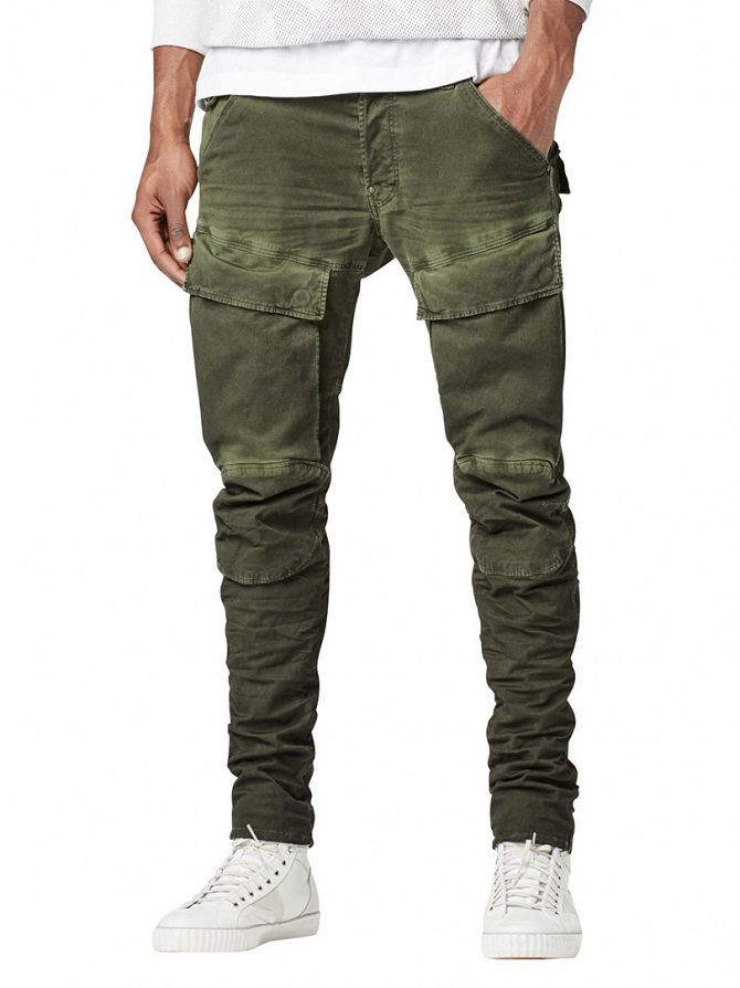 G-Star Sage/Bright Rovic Green Air Defence 5620 3D Slim Cargos
