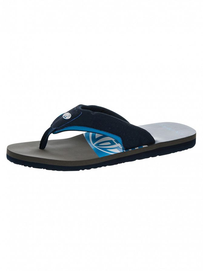 Animal Indigo Blue Jekyl Slice Logo Flip Flops
