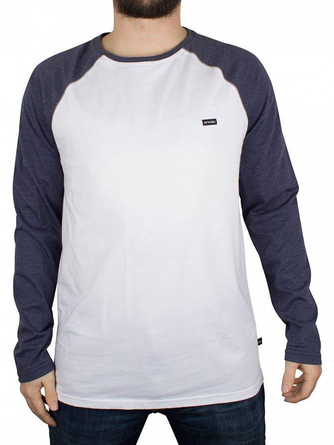 Animal White Longsleeved Logo Raglan T-Shirt