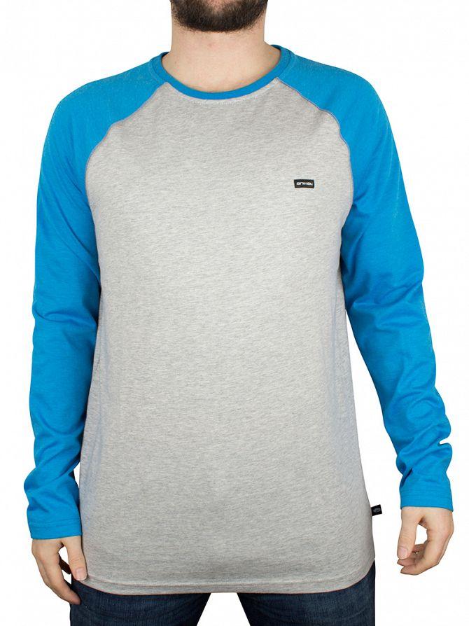 Animal Grey Marl Longsleeved Logo Raglan T-Shirt