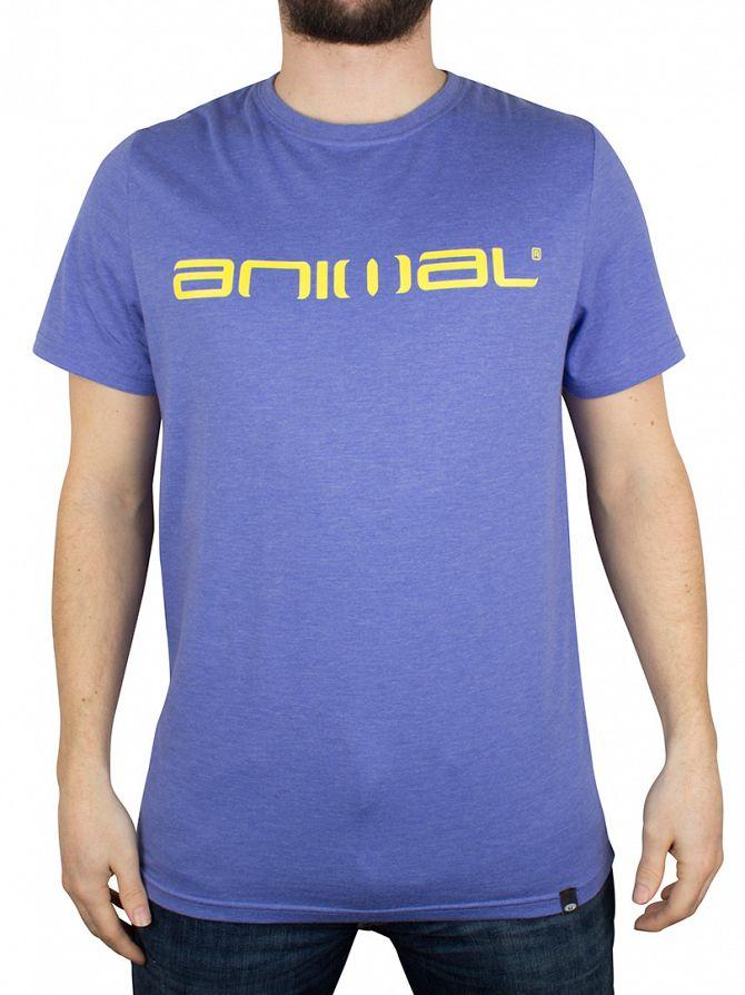 Animal Ultravio Blue/Yellow Logo Graphic T-Shirt