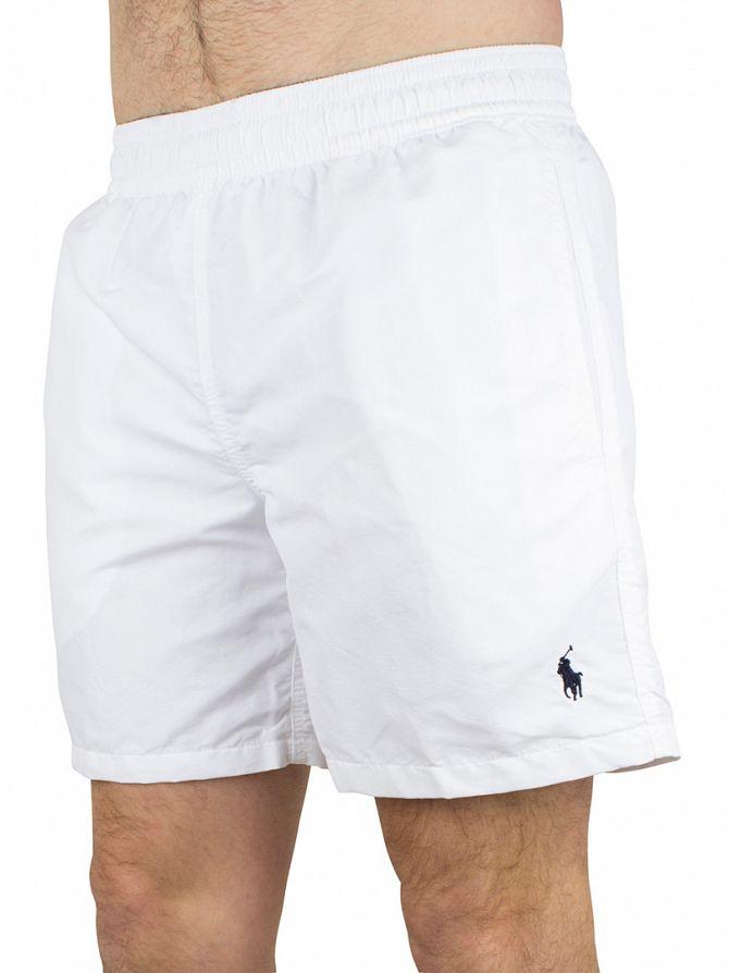 Polo Ralph Lauren White Hawaiian Logo Swim Shorts