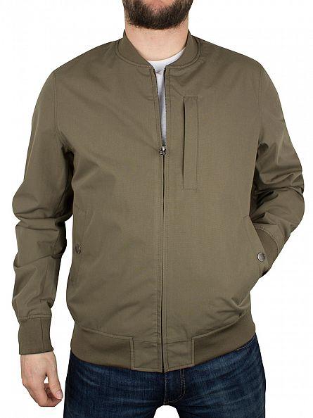 Edwin Olive Baller Zip Bomber Jacket