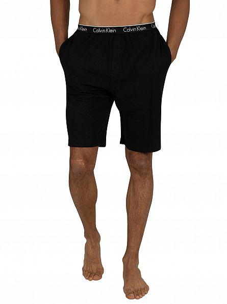 Calvin Klein Black Logo Waistband Pyjama Shorts