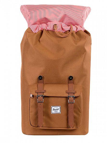 Herschel Supply Co Caramel Little America Straps Backpack
