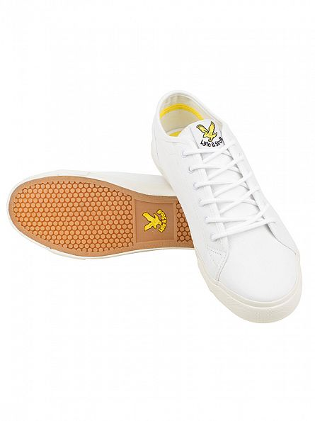 Lyle & Scott White Teviot Twill Trainers