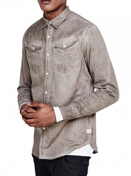 G-Star Dune/Oak Slim Fit Arc 3D Shirt