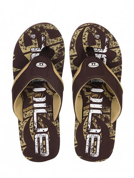 Animal Brown Jekyl Logo Flip Flops