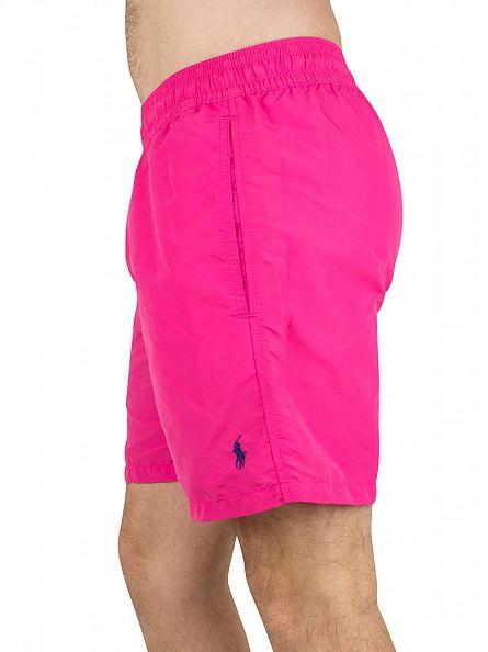 Polo Ralph Lauren Grand Prix Pink Hawaiian Logo Swim Shorts