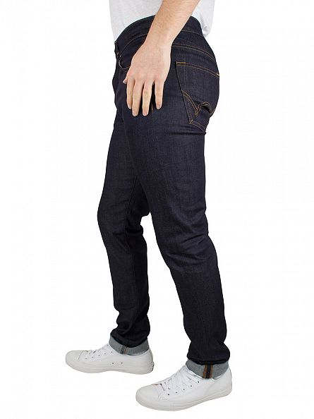 Edwin Blue Unwashed ED-80 Slim Tapered Jeans
