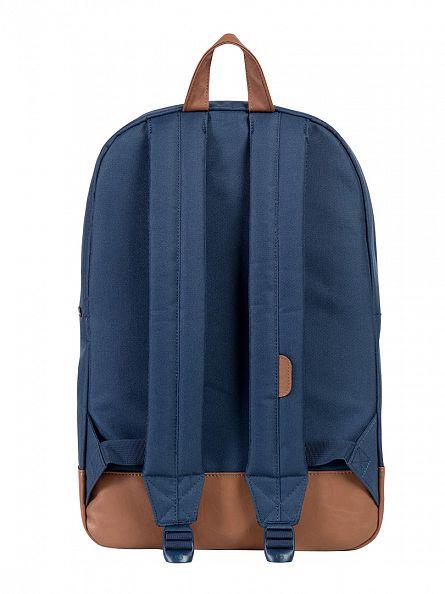 Herschel Supply Co Navy/Tan Heritage Backpack