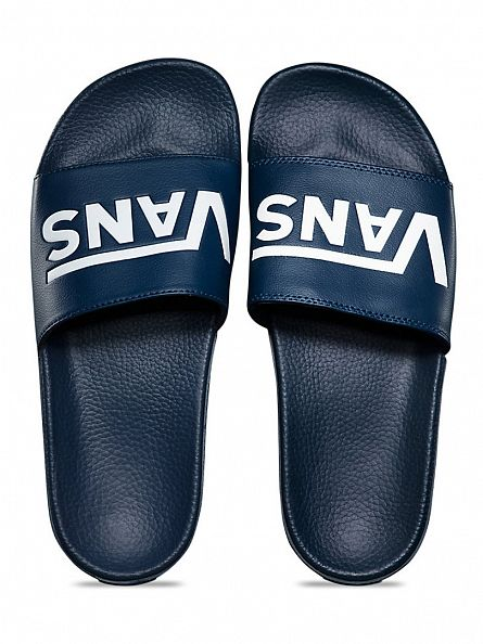 Vans Dress Blues Slide-On Logo Flip Flops