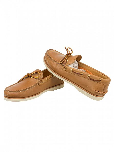 Sperry Top-Sider Tan Gold Cup Authentic A/O 1-Eye Boat Shoes