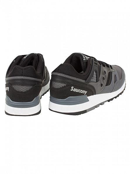 Saucony Black/Grey Grid SD Trainers