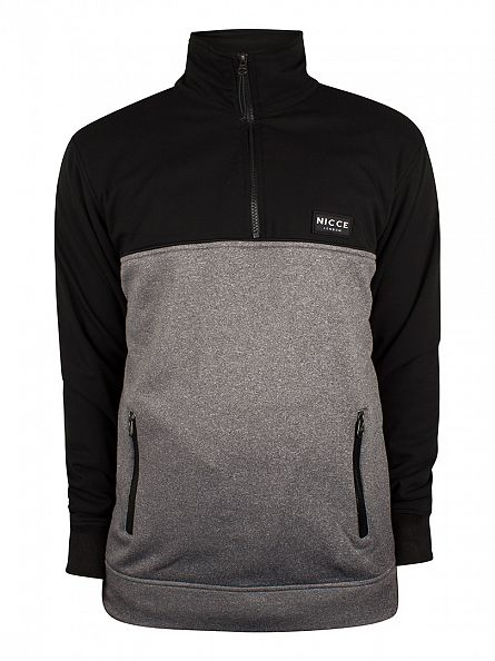Nicce London Black Half Zip Track Top Jacket
