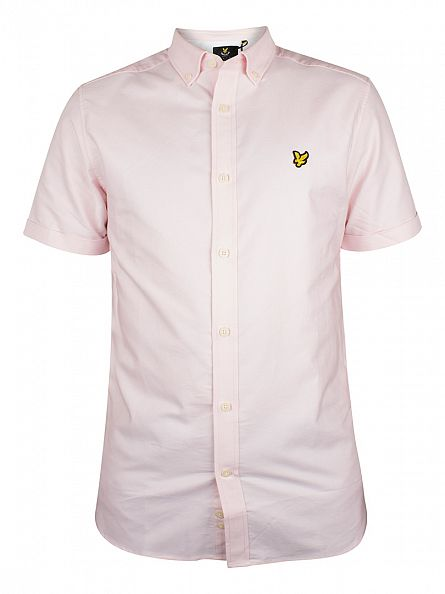 Lyle & Scott Pink Sorbet Shortsleeved Button Down Oxford Shirt