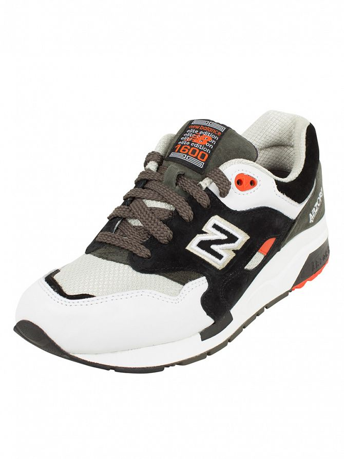 New Balance Black/White 1600 Trainers