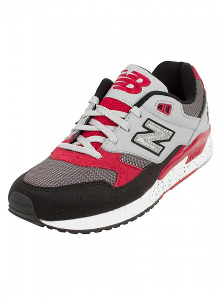 New Balance Black/Red 530 Trainers