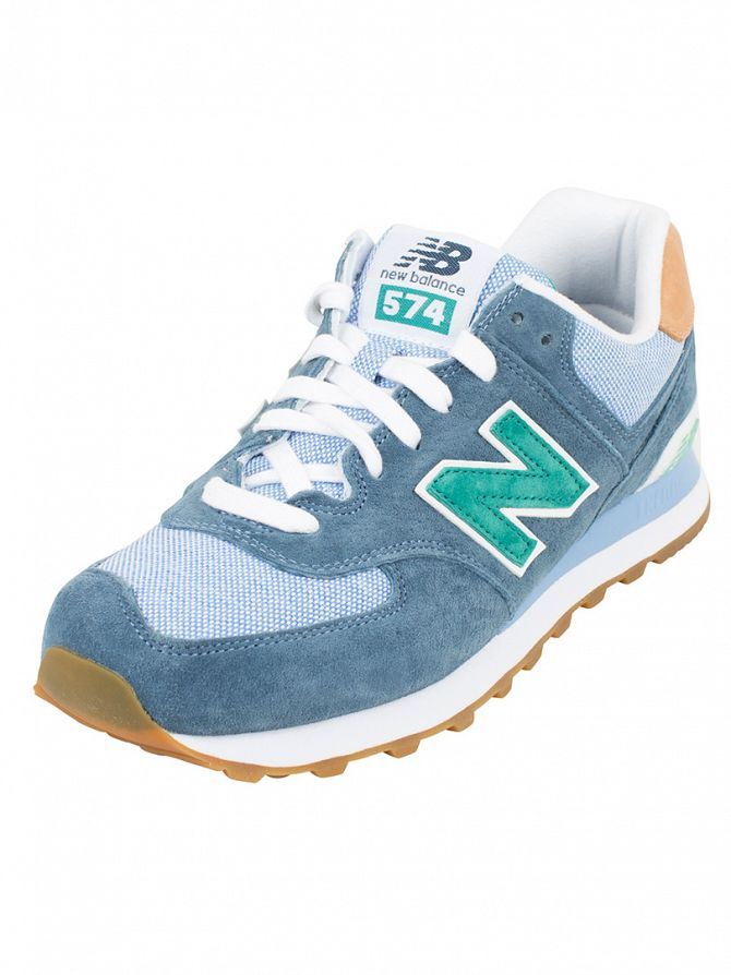 New Balance Lagoon Blue/Cornflower 574 Trainers