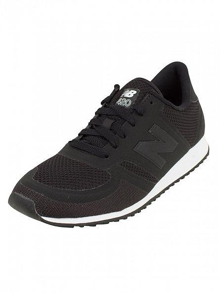New Balance Black/Grey 420 Trainers