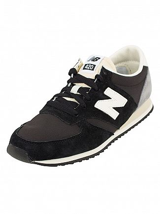 New Balance Black/Grey 420 Trainers