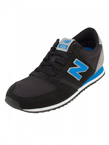 New Balance Black/Blue 420 Trainers