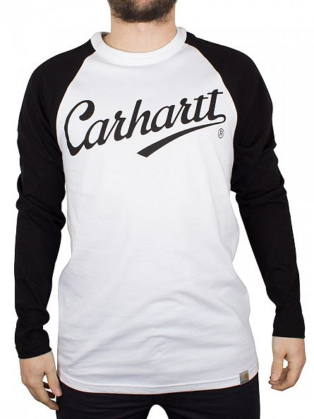 Carhartt WIP White/Black League Longsleeved T-Shirt