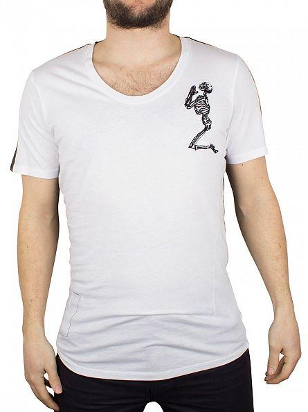 Religion White Gradient Crew Neck T-Shirt
