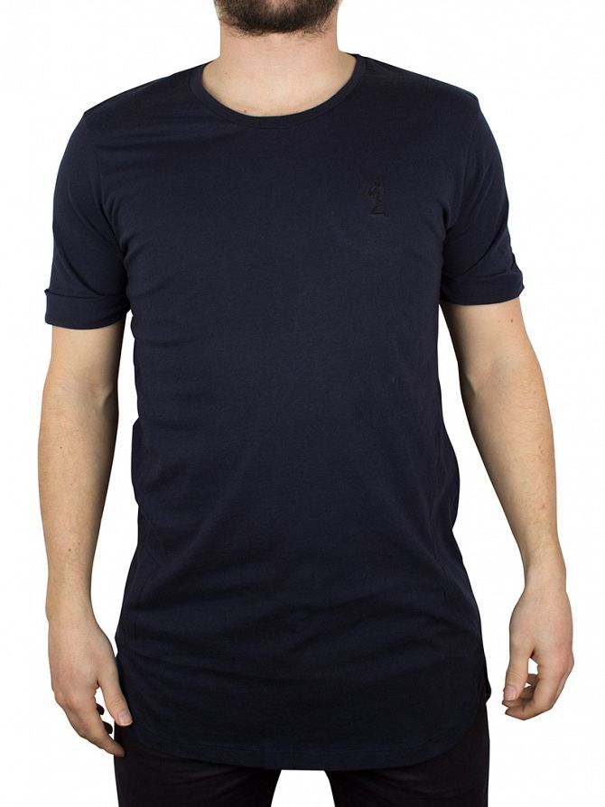 Religion French Navy Shaded Crew Neck T-Shirt