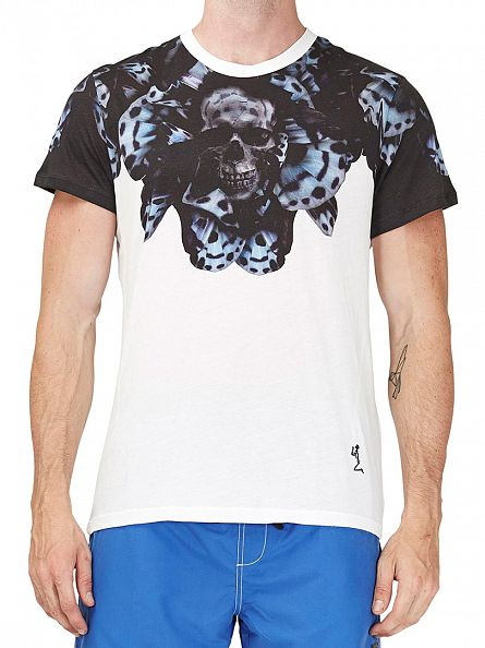 Religion White Tigerfly Crew Neck T-Shirt