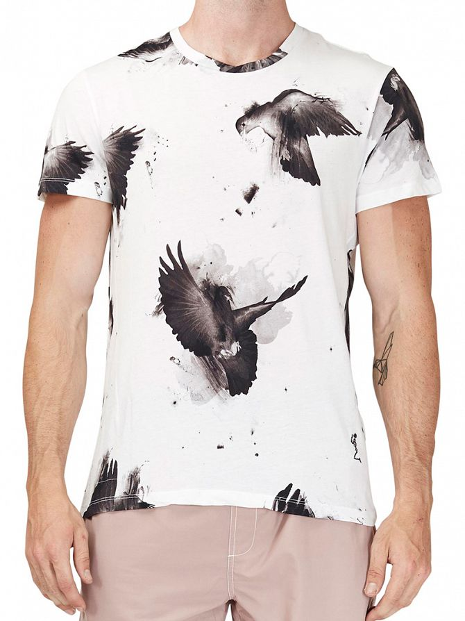 Religion White Doves Crew Neck T-Shirt