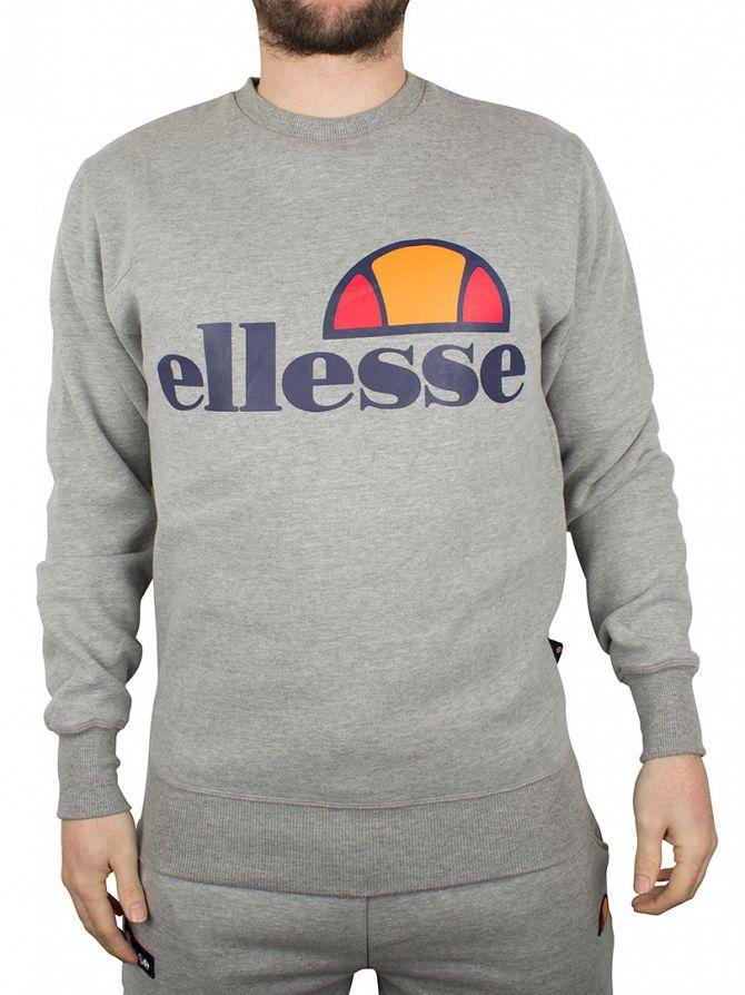 Ellesse Athletic Grey Montone Crew Neck Sweatshirt