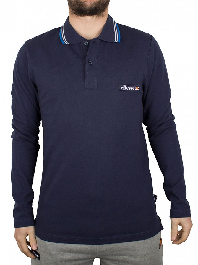 Ellesse Dress Blue Atrani Longsleeved Polo Shirt