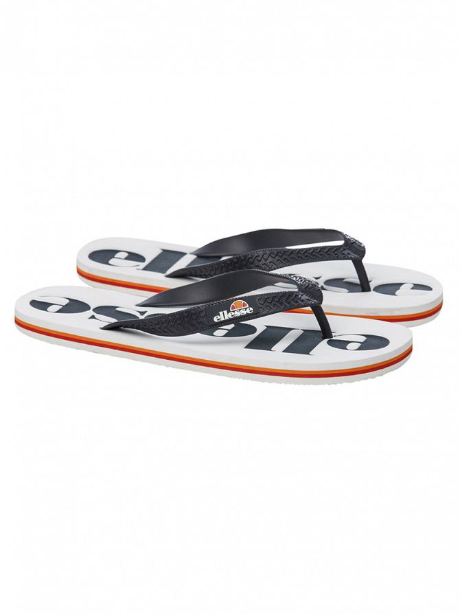 Ellesse White/Navy Trevi Flip Flops