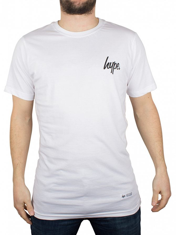 Hype White/Black Breast Mini Script T-Shirt