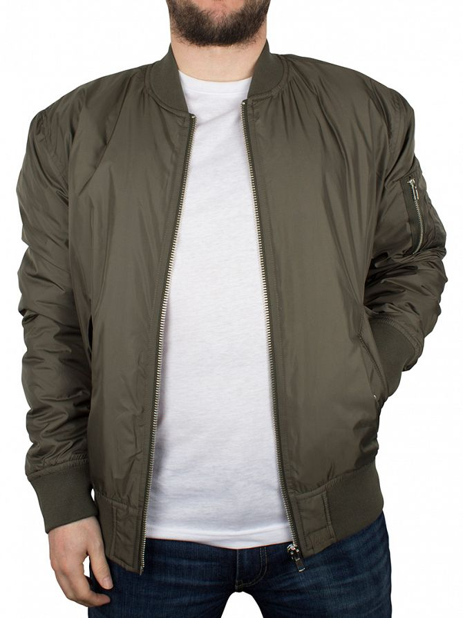Hype Khaki Ma1 Zip Bomber Jacket