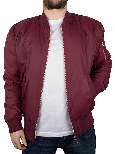 Hype Burgundy Ma1 Zip Bomber Jacket