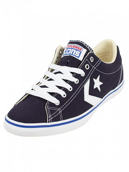 Converse Inked/Inked/White Star Player LP OX Trainers
