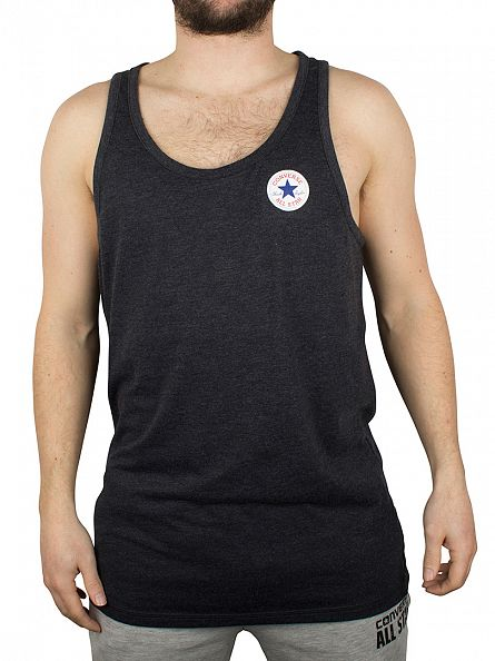 Converse Charcoal Left Logo Marled Vest